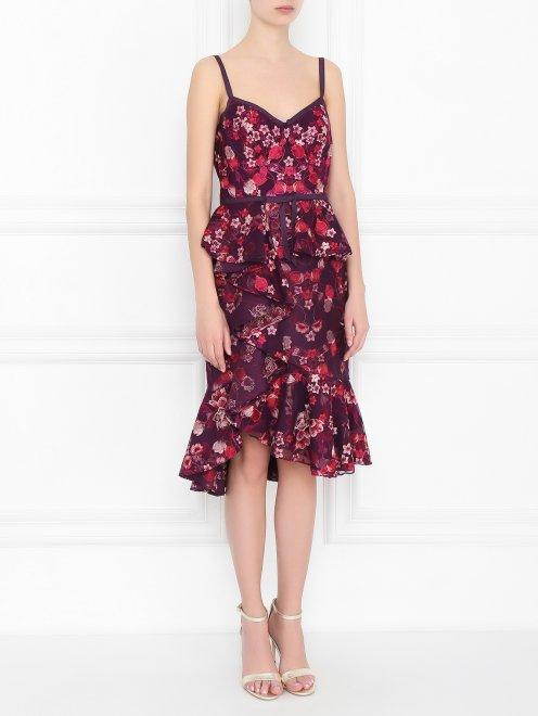 Платье с цветочным узором - МодельВерхНиз