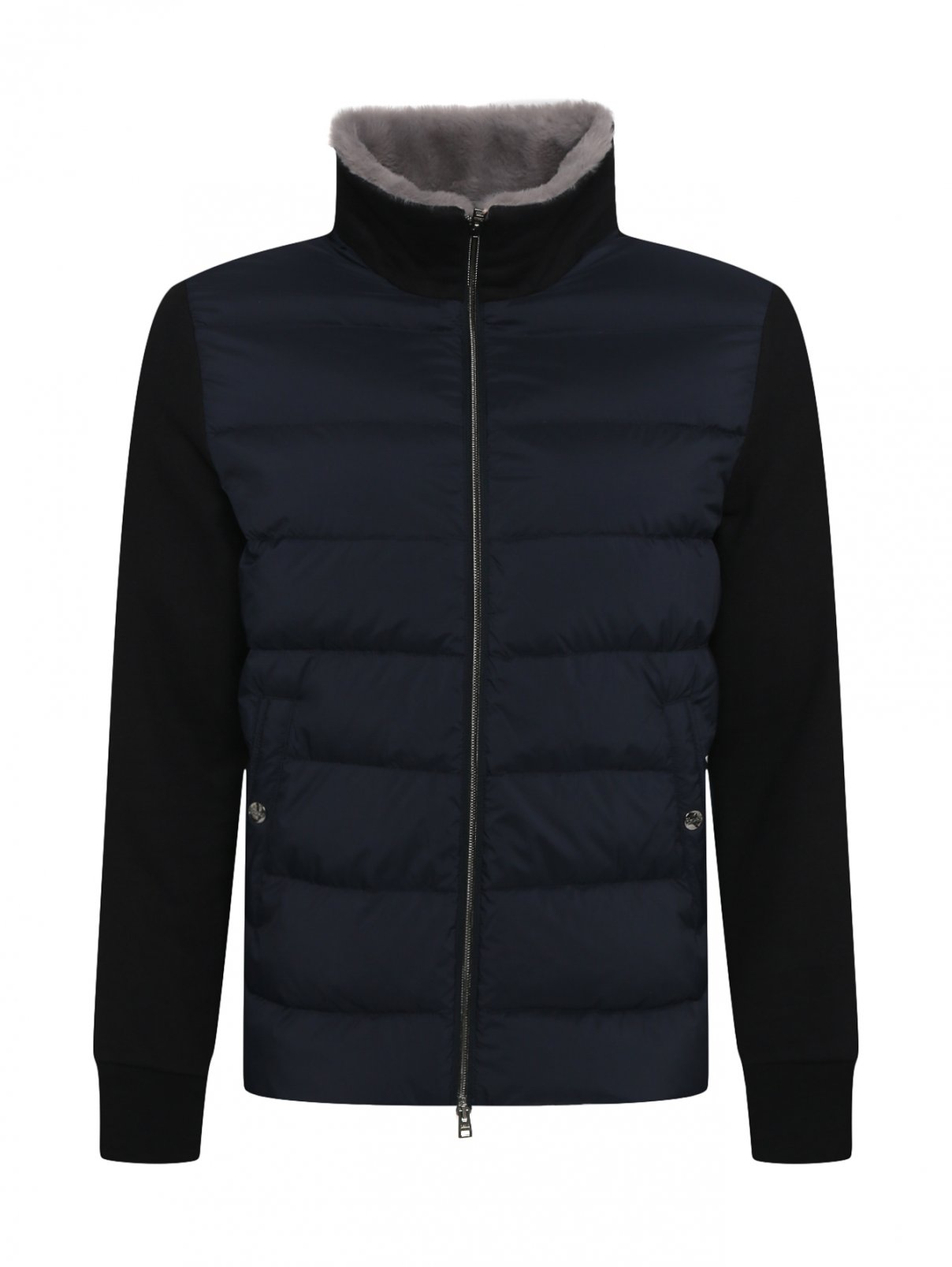 Куртка из хлопка и кашемира с утеплением из пуха и пера Herno  –  Общий вид