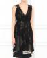 Платье-мини из смешанного шелка с узором Antonio Marras  –  Модель Верх-Низ