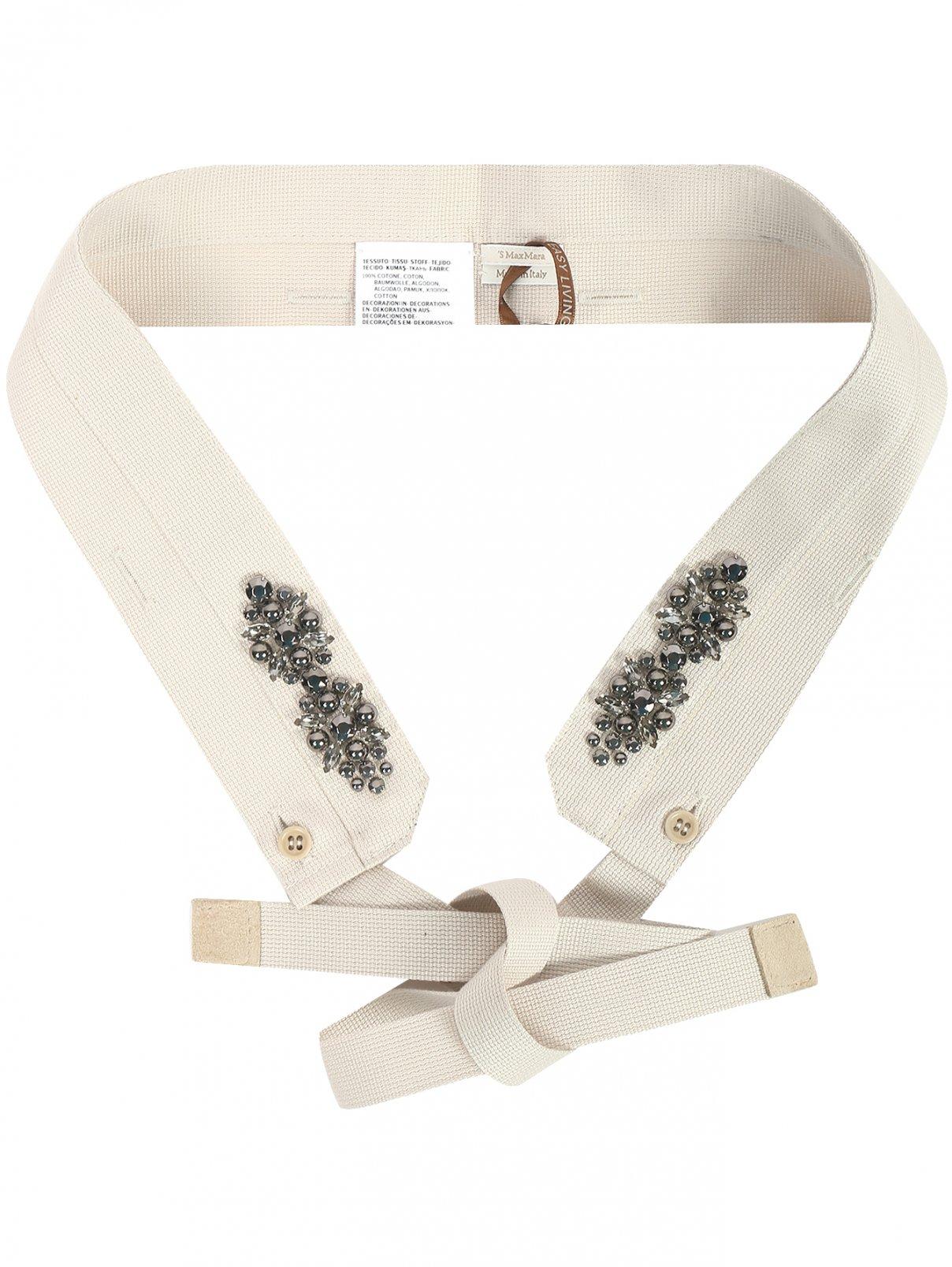 Воротник из текстиля с декоративной отделкой Max Mara  –  Общий вид