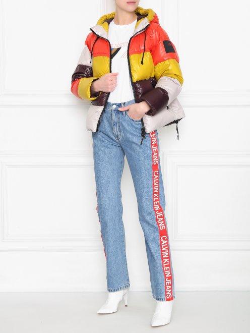 Стеганая куртка с капюшоном - Общий вид
