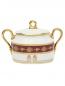 Сахарница из фарфора с узором и золотой окантовкой Ginori 1735  –  Обтравка2