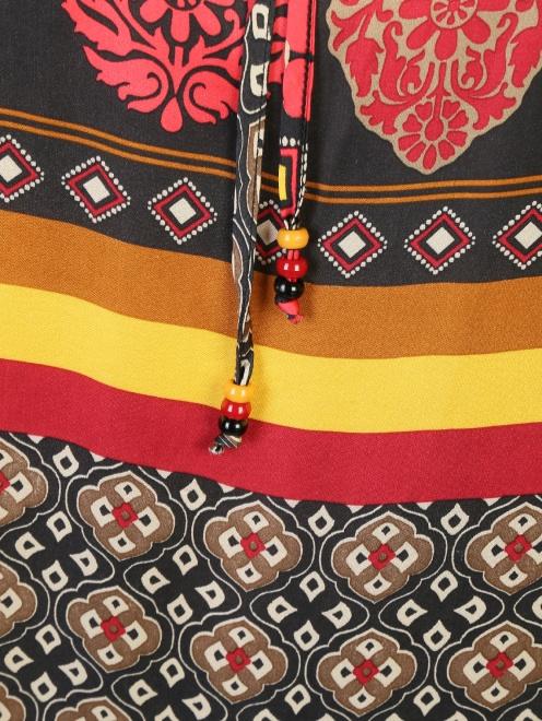 Платье из вискозы с узором DEHA - Деталь1