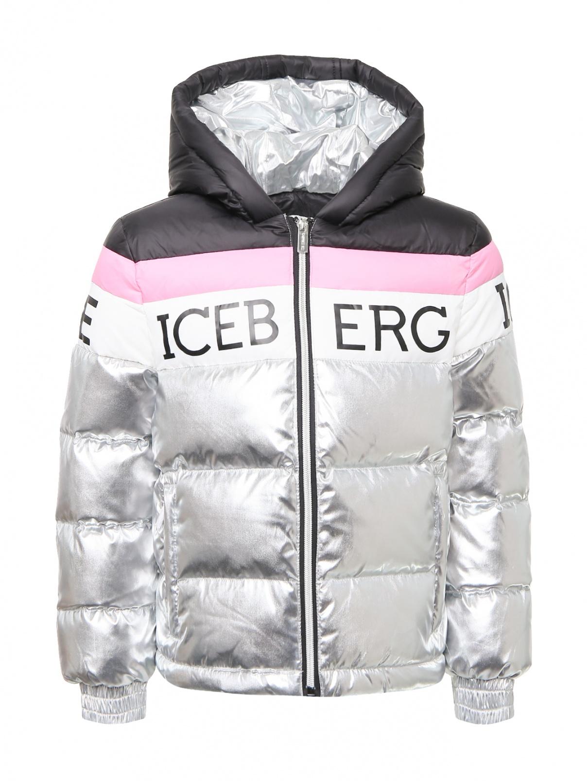 Пуховик на молнии с капюшоном ICEBERG  –  Общий вид