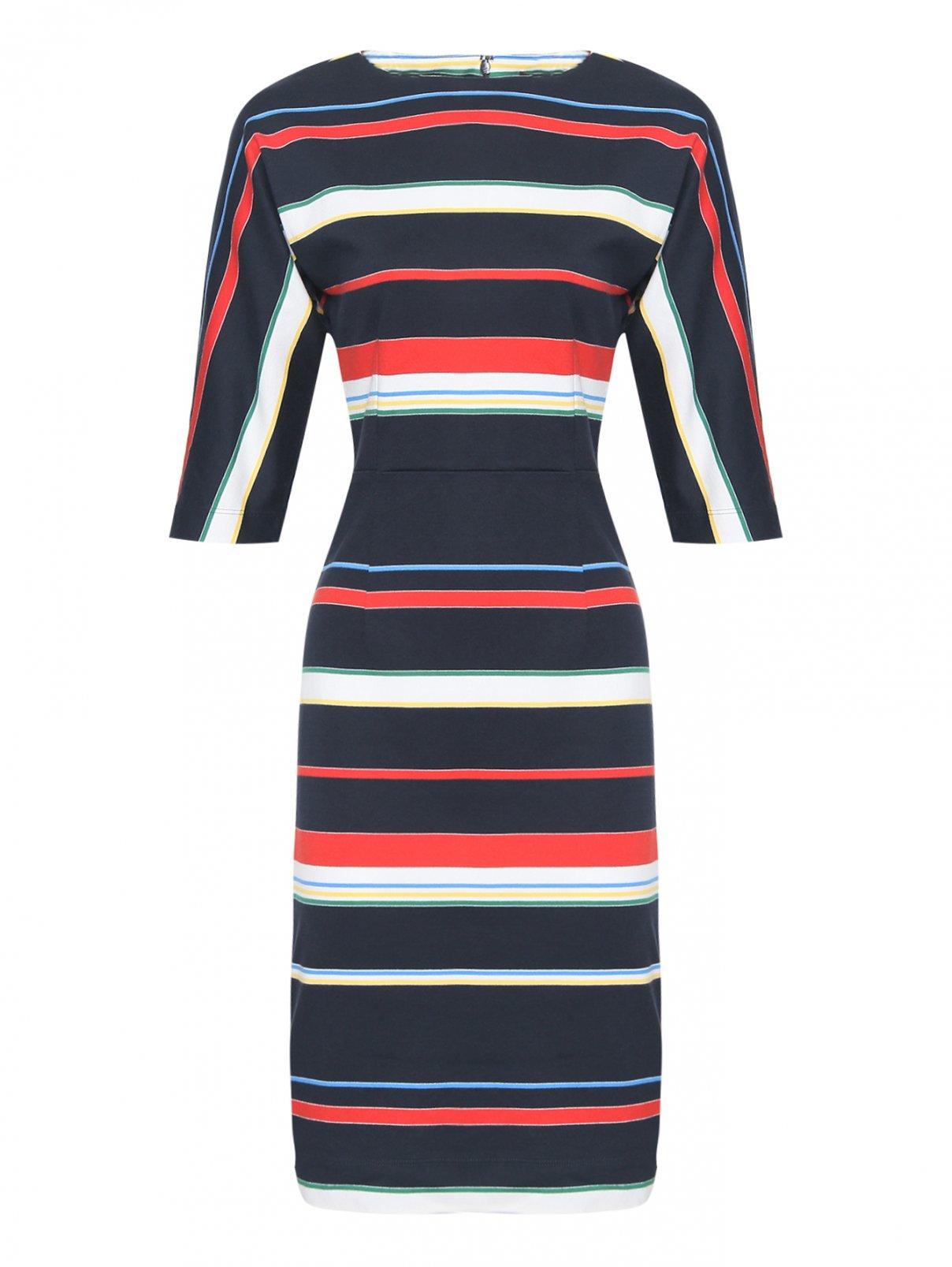 Платье хлопковое, с узором полоска Brooks Brothers  –  Общий вид