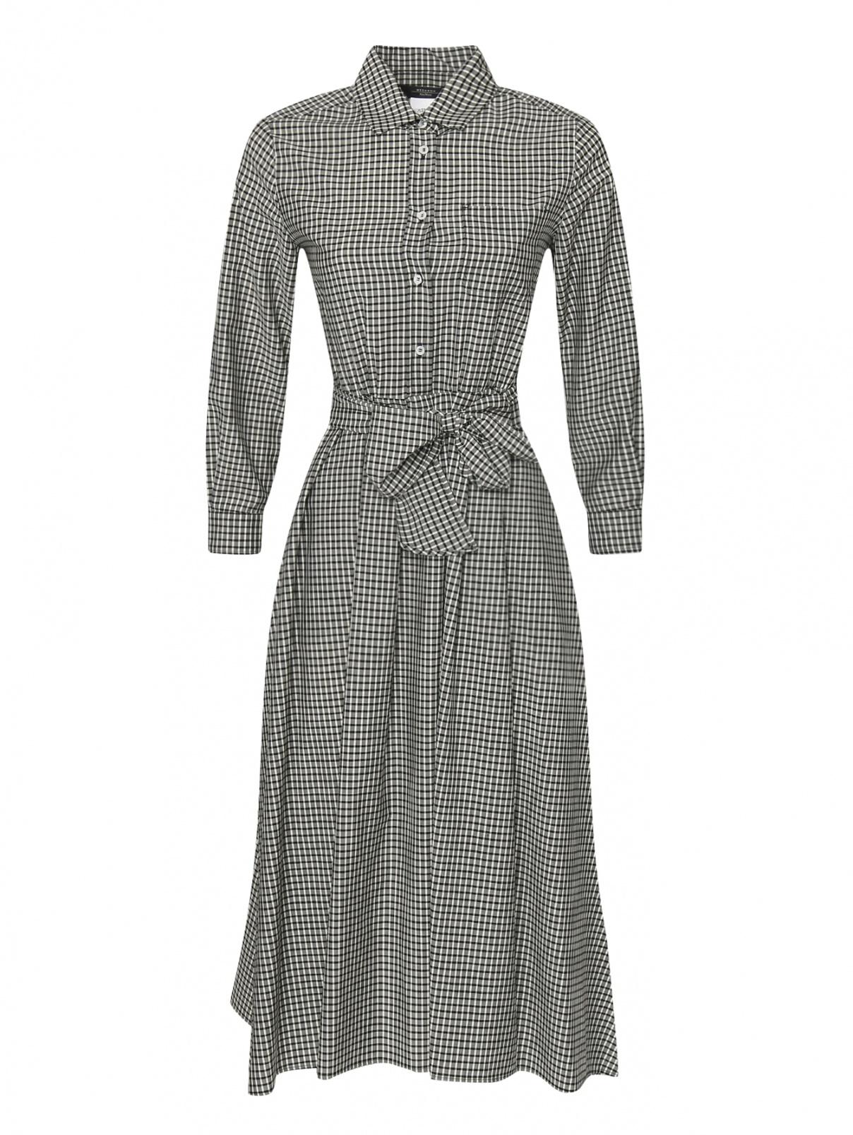Платье миди из шерсти в клетку Weekend Max Mara  –  Общий вид