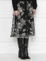 Юбка-миди с декоративной вышивкой Antonio Marras  –  МодельВерхНиз