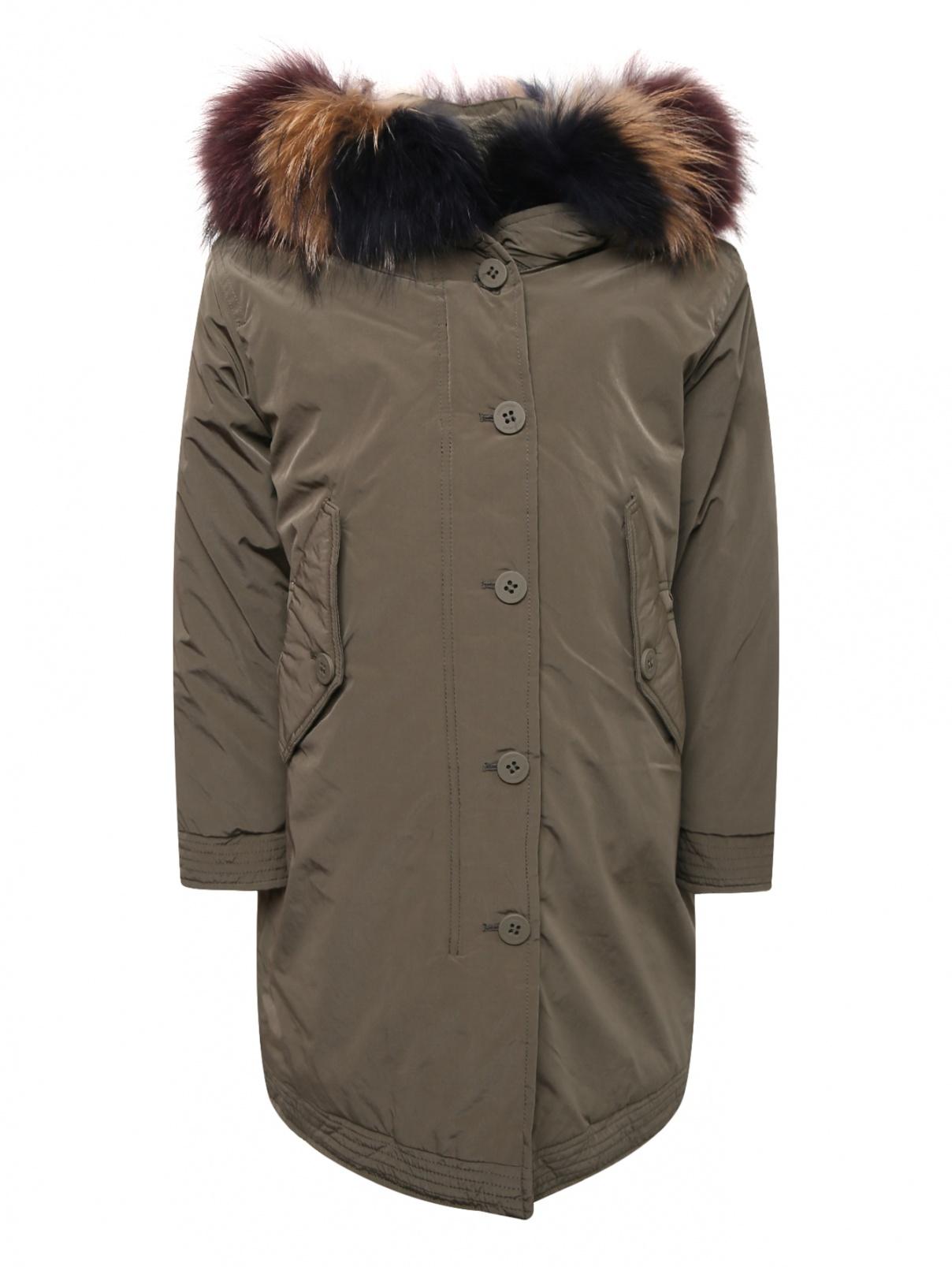 Куртка удлиненная на пуховом подкладе Freedomday  –  Общий вид