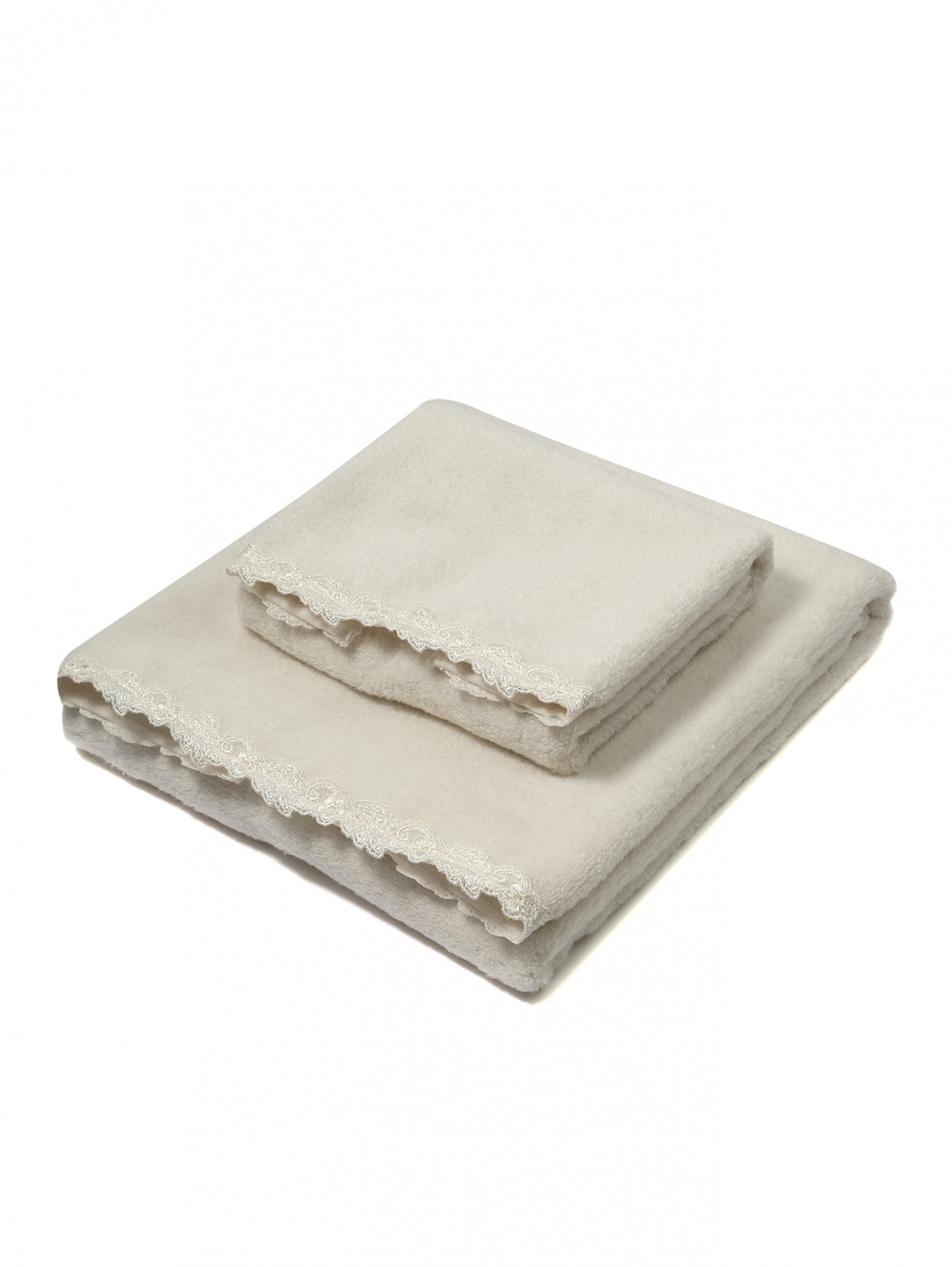 Набор полотенец из хлопковой махровой ткани La Perla  –  Общий вид