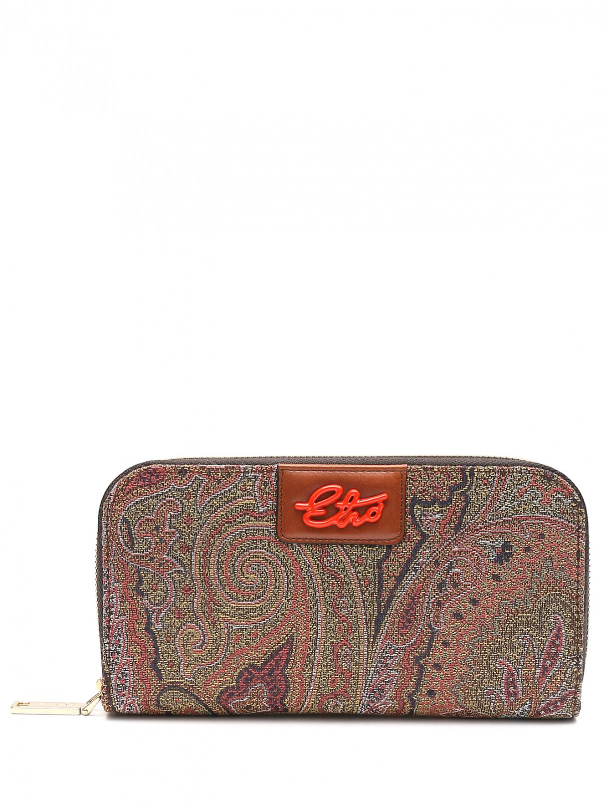 Кошелек из текстиля с узором пейсли Etro  –  Общий вид