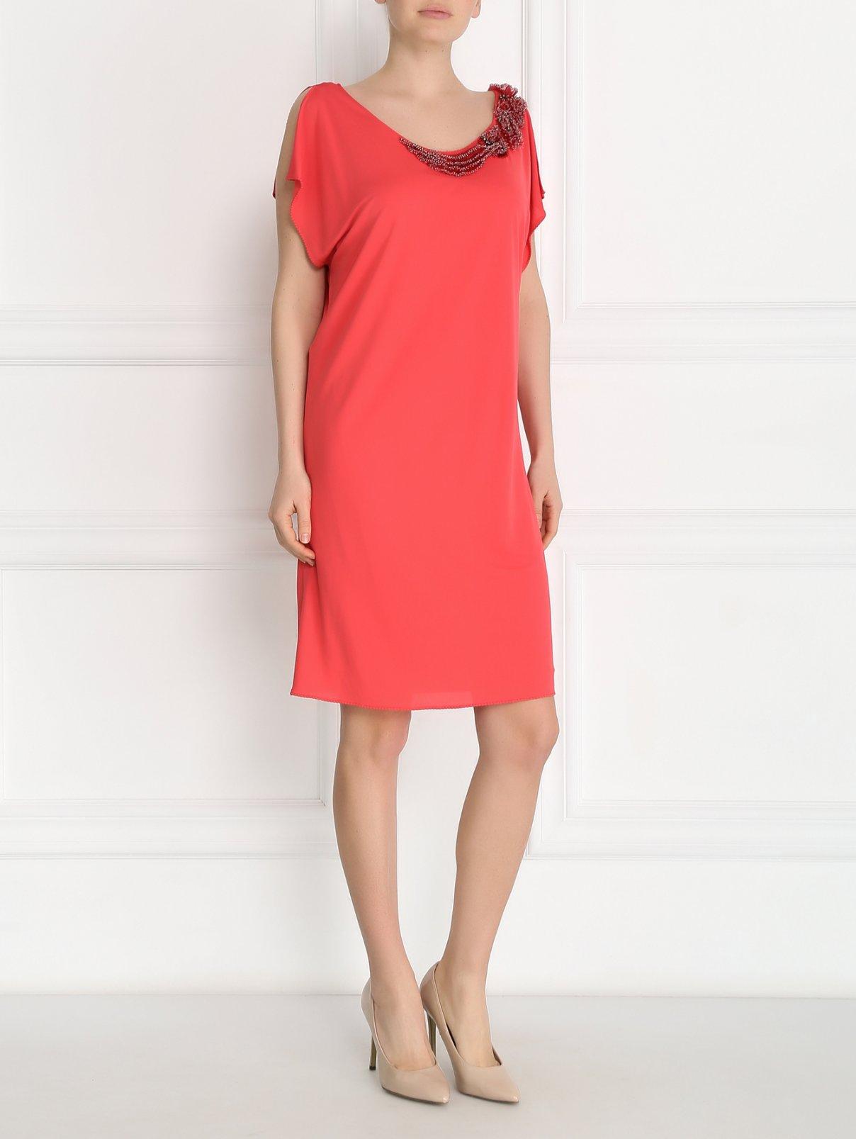 Платье с аппликацией из бисера Alberta Ferretti  –  Модель Общий вид