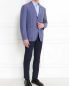 Пиджак однобортный из льна и шелка LARDINI  –  Модель Общий вид