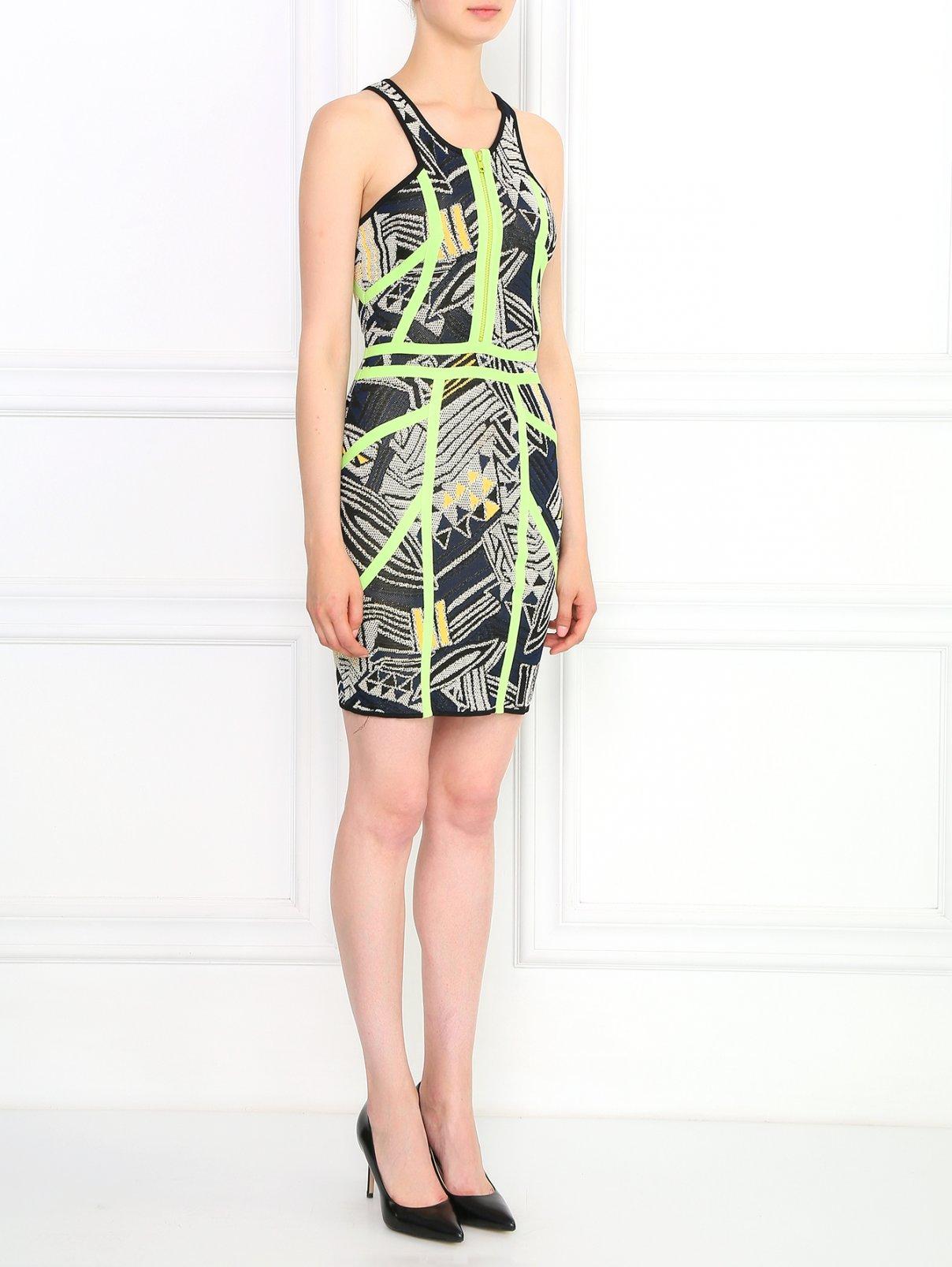 Платье-мини с абстрактным узором Cut 25  –  Модель Общий вид
