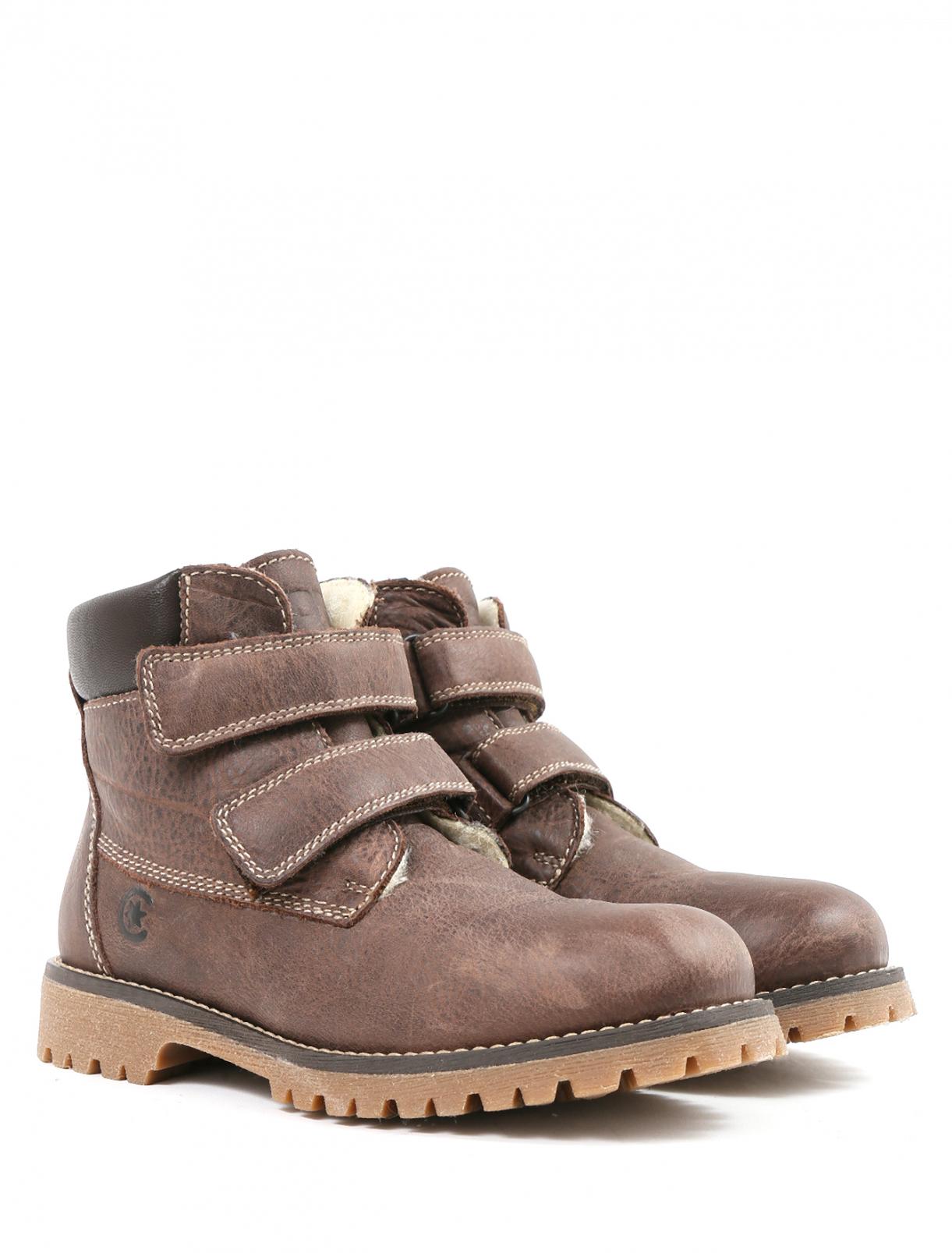Ботинки из плотной, фактурной кожи на липучке Ciao Bimbi  –  Общий вид