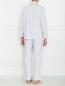 Пижама из хлопка в полоску Frette  –  МодельОбщийВид2