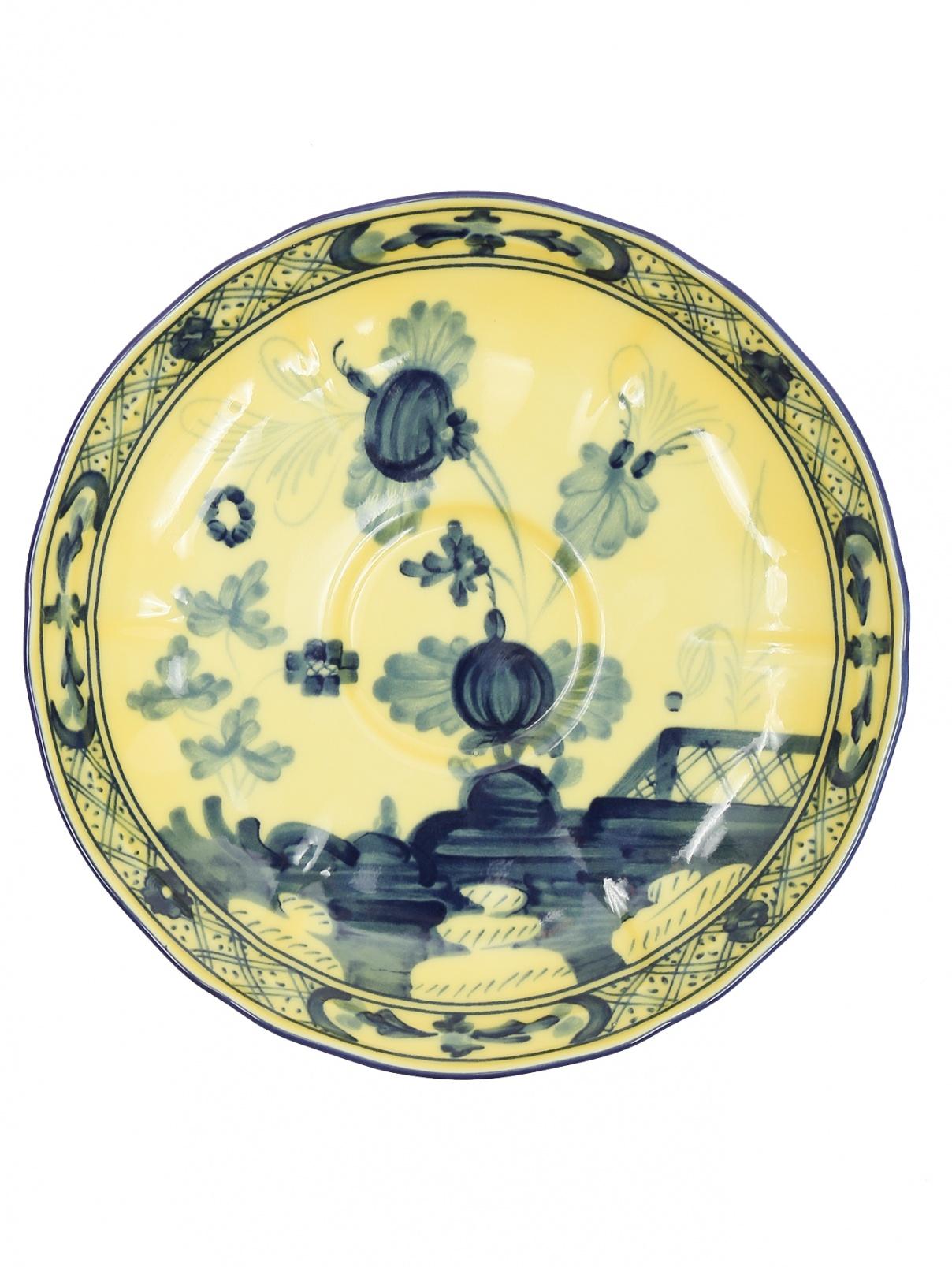 Блюдце кофейное с узором Richard Ginori 1735  –  Общий вид