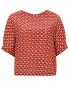Блуза из шелка с узором Altea  –  Общий вид