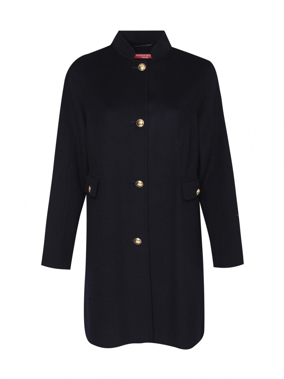 Пальто из шерсти с карманами Marina Rinaldi  –  Общий вид