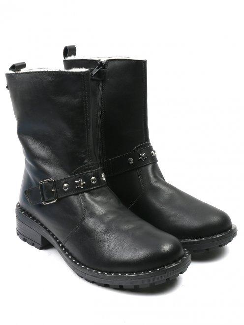 Ботинки из кожи на молнии - Общий вид