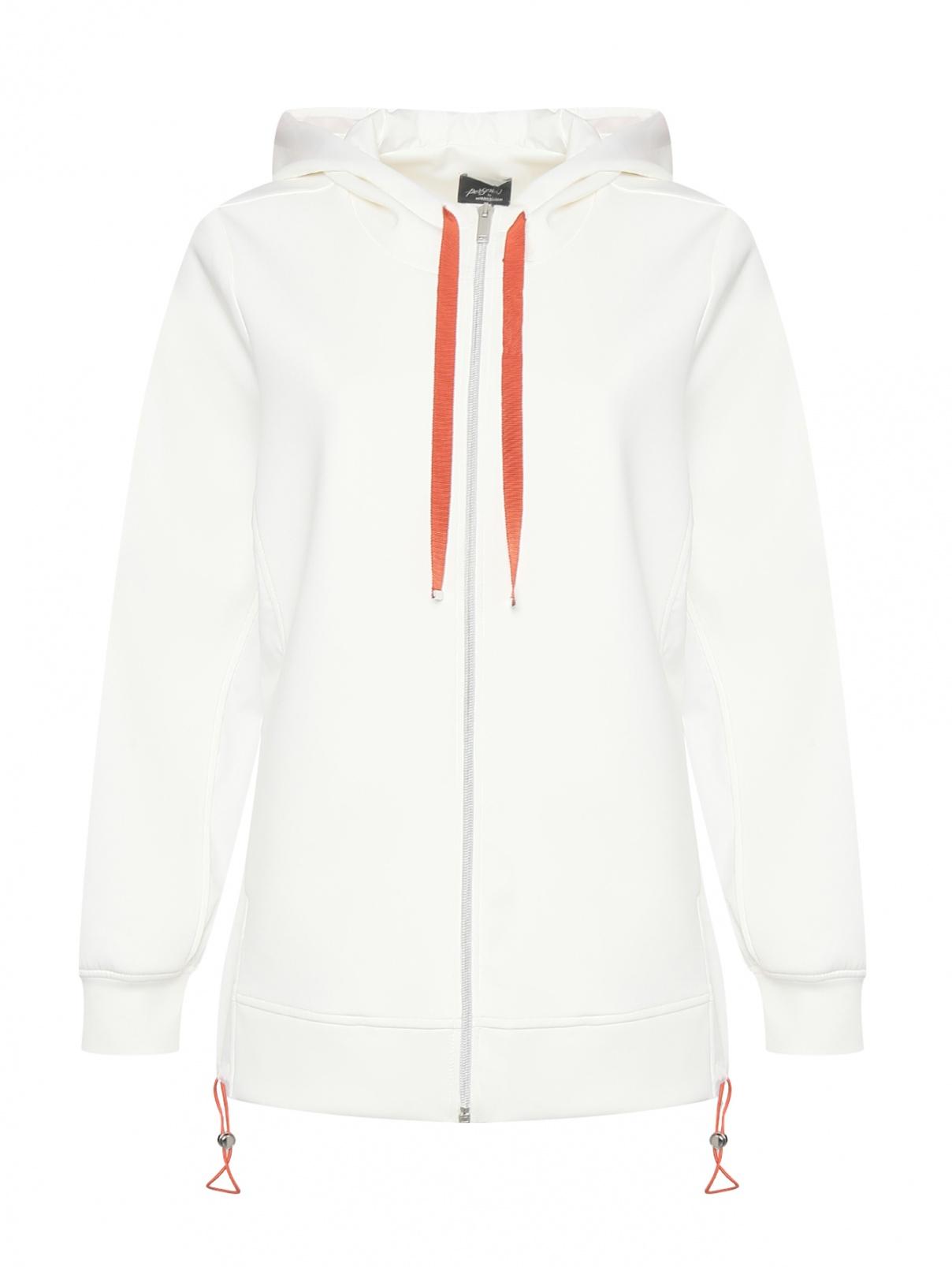 Однотонная куртка с капюшоном на молнии Persona by Marina Rinaldi  –  Общий вид