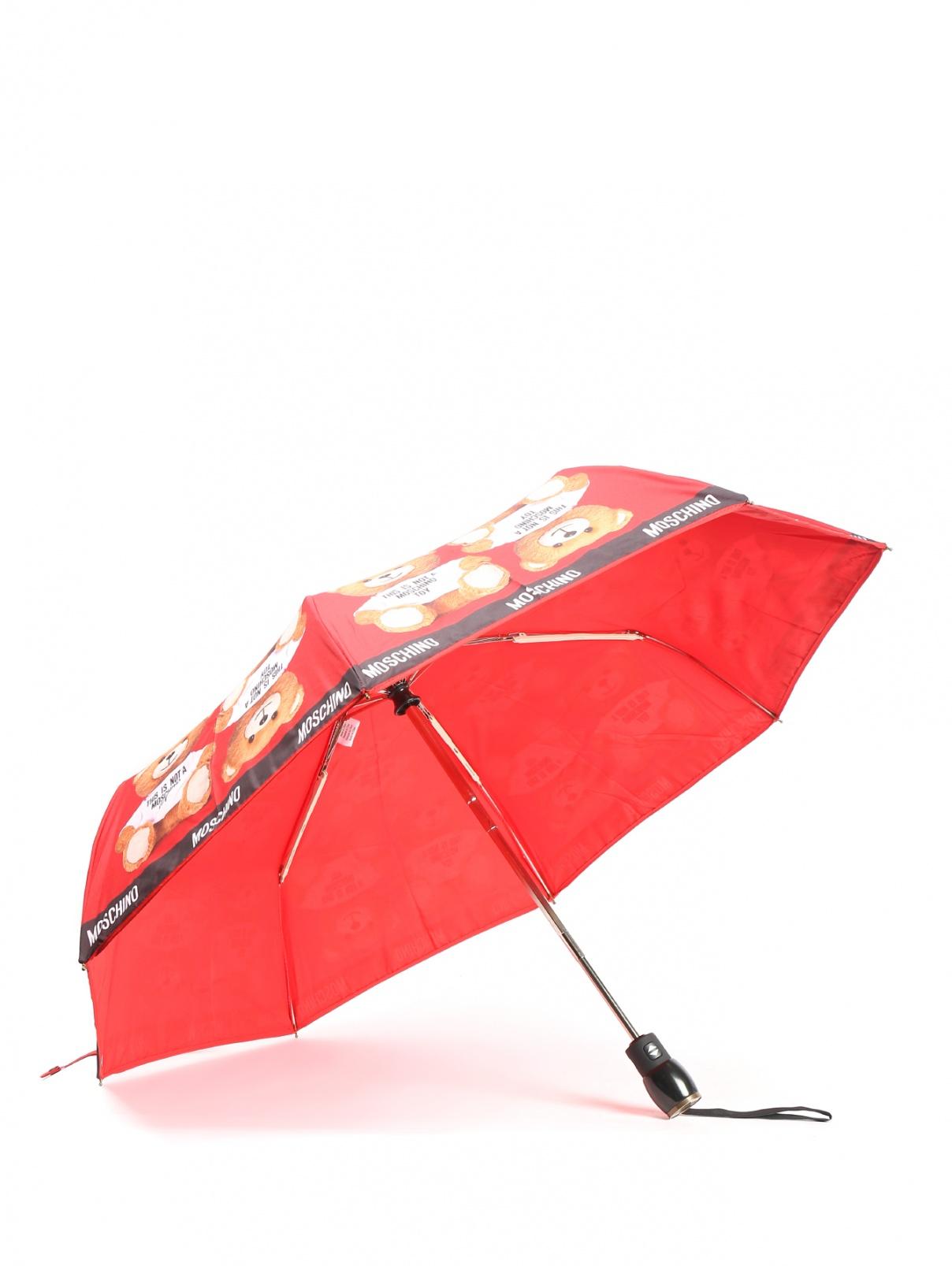 Зонт-автомат с узором Moschino  –  Общий вид