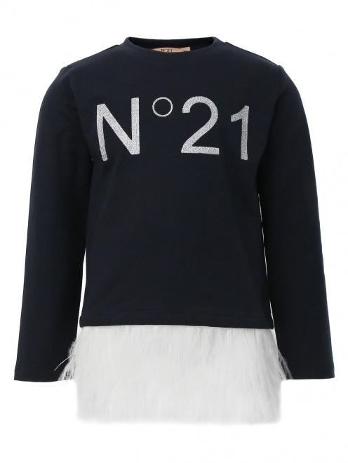 Свитшот с принтом и декоративной отделкой N21 - Общий вид