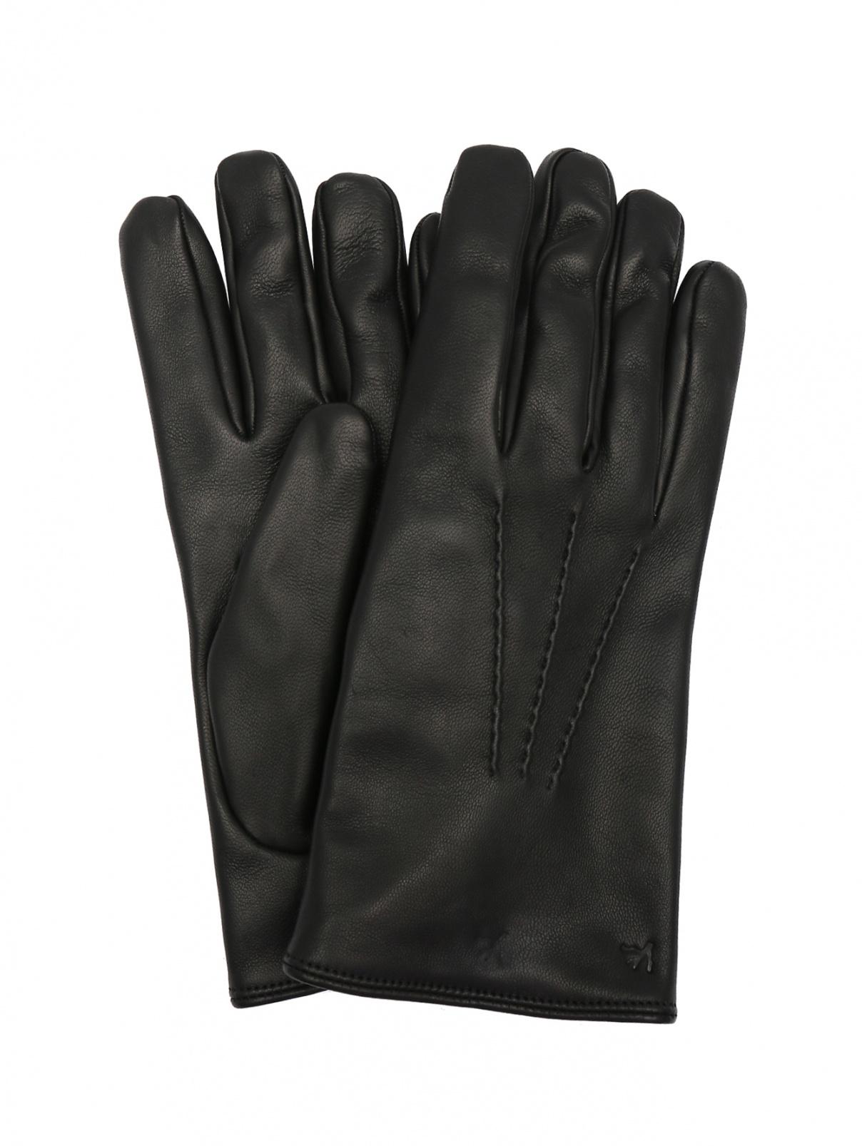 Перчатки из фактурной кожи Isaia  –  Общий вид