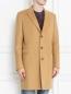 Пальто однобортное из шерсти Paul Smith  –  МодельВерхНиз