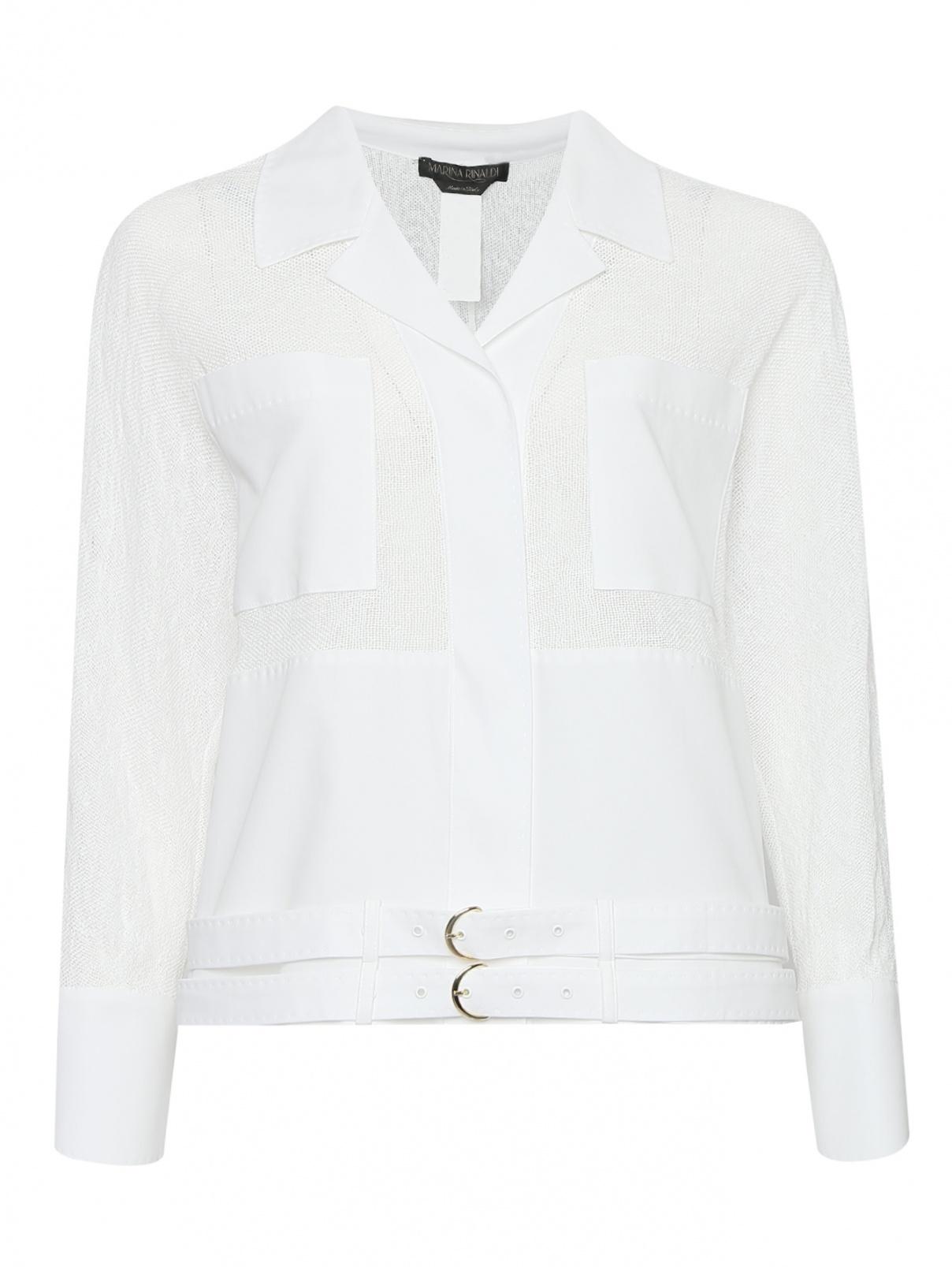 Легкая куртка с накладными карманами Marina Rinaldi  –  Общий вид