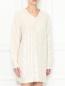 Платье-мини крупной вязки декорированное пайетками Moschino  –  МодельВерхНиз