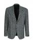 Пиджак однобортный из шерсти с узором LARDINI  –  Общий вид