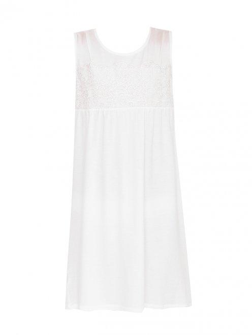 Пижама трикотажная с кружевным декором La Perla - Общий вид