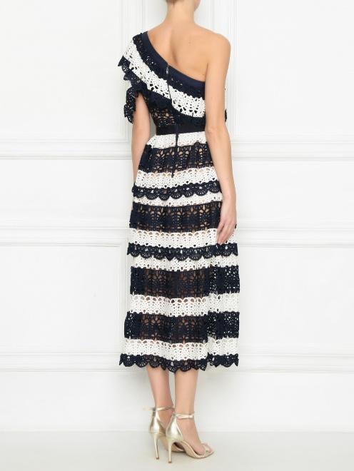 Платье из кружева контрастных цветов - МодельВерхНиз1