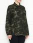Куртка из хлопка с камуфляжным принтом Persona by Marina Rinaldi  –  МодельВерхНиз