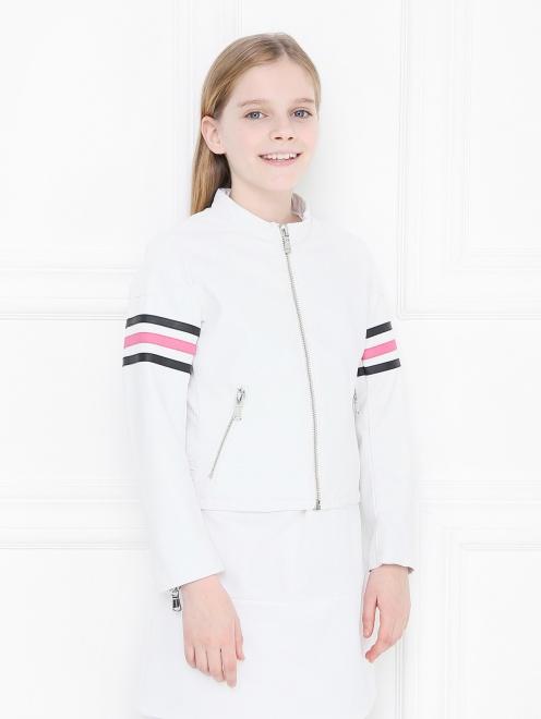 Куртка из эко-кожи в байкерском стиле Freedomday - МодельВерхНиз