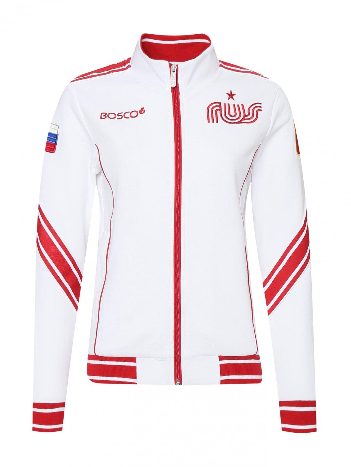 Олимпийка из хлопка на молнии Bosco Sport  –  Общий вид