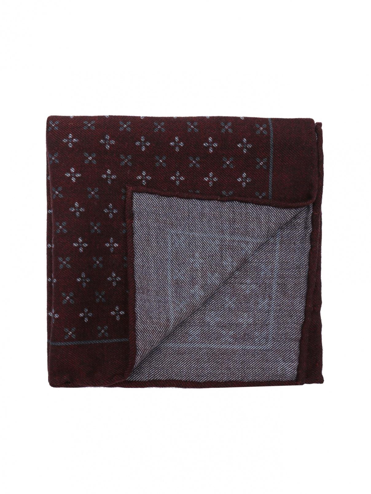 Карманный платок из шерсти с узором Isaia  –  Общий вид