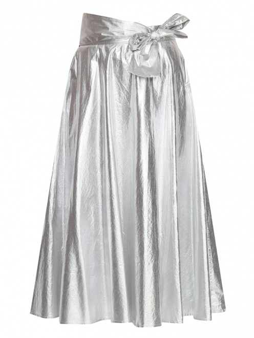 Юбка из хлопка с декоративным бантом - Общий вид