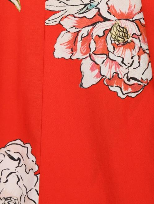 Юбка-трапеция из хлопка с цветочным принтом Paul&Joe - Деталь1