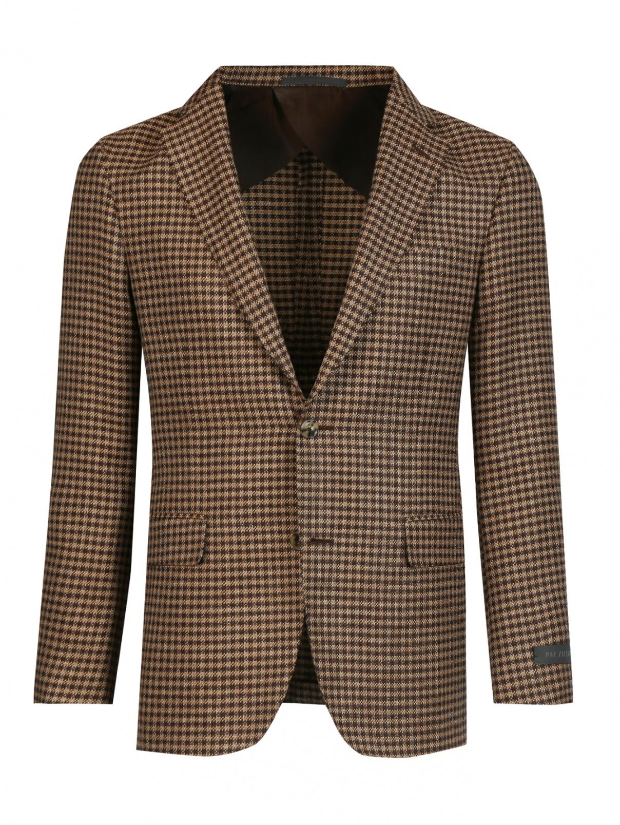 Пиджак из шерсти и шелка с узором Pal Zileri  –  Общий вид