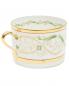 Чайная чашка из фарфора с орнаментом и золотой каймой Richard Ginori 1735  –  Обтравка1