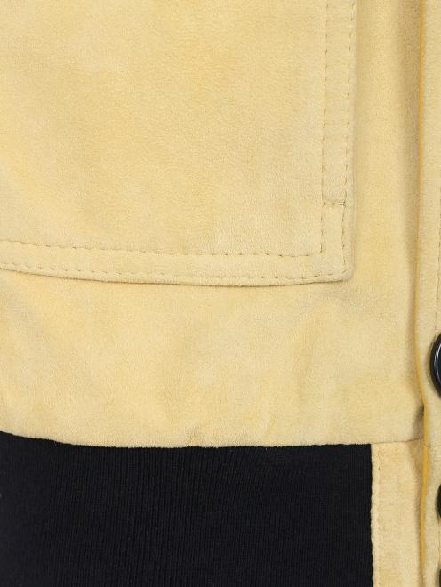 Куртка кожаная на пуговицах  - Деталь2