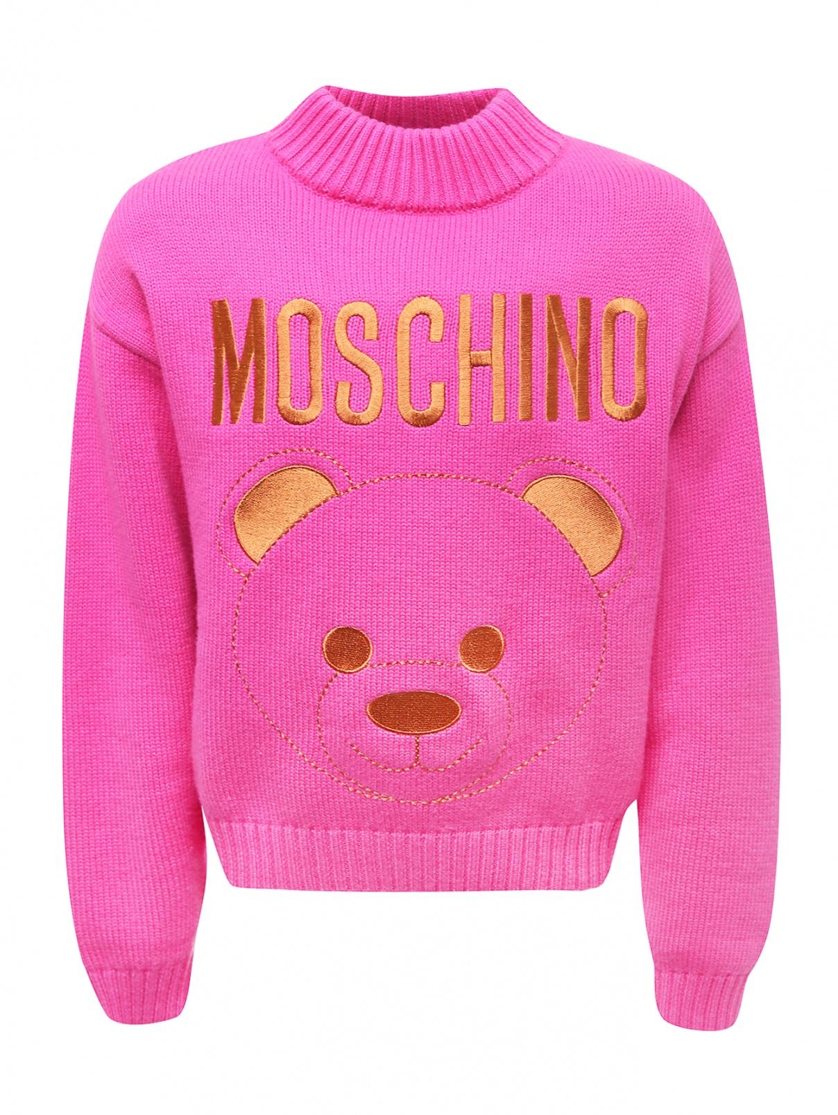 Джемпер с вышивкой Moschino Teen  –  Общий вид