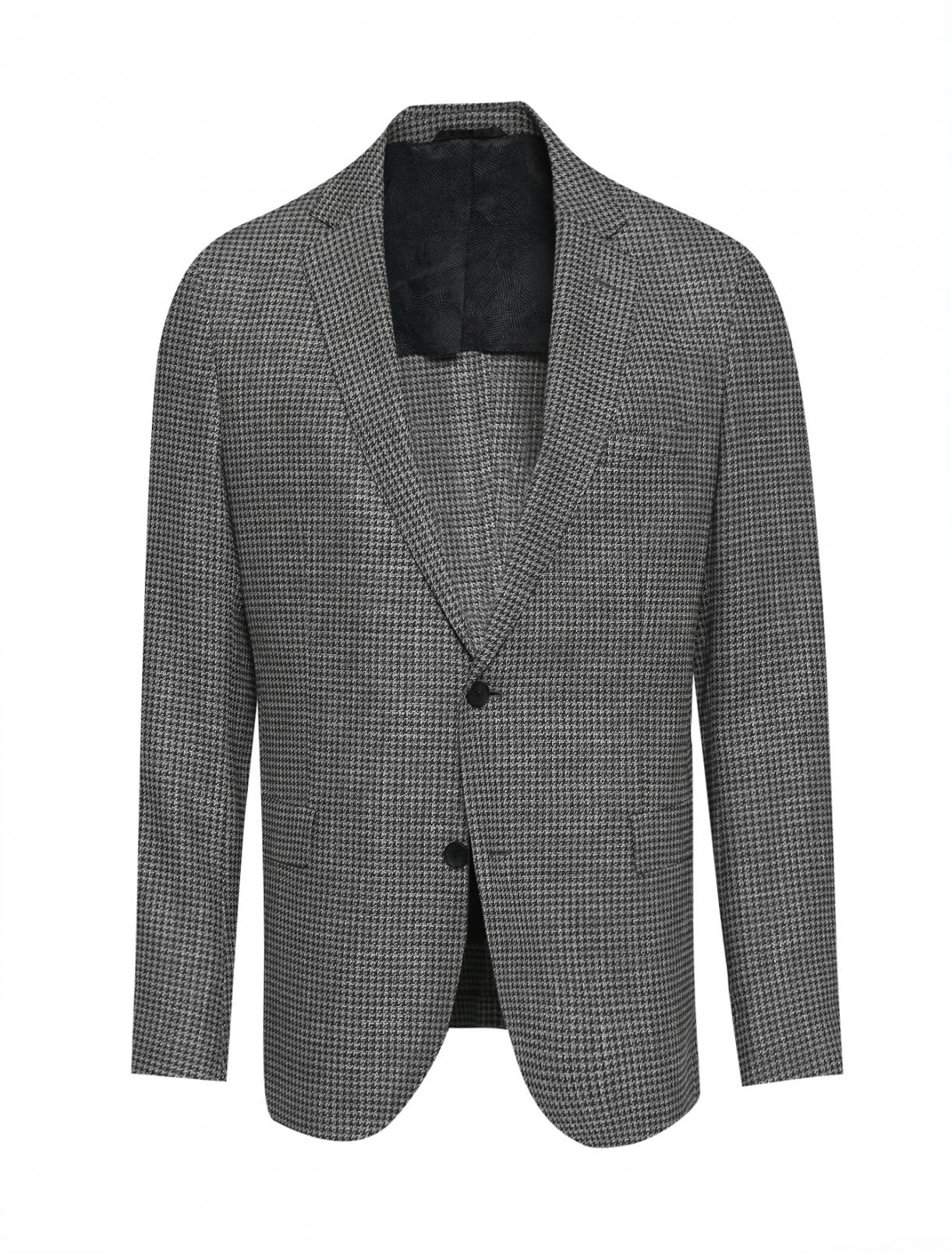 Пиджак однобортный из шерсти Hugo Boss  –  Общий вид