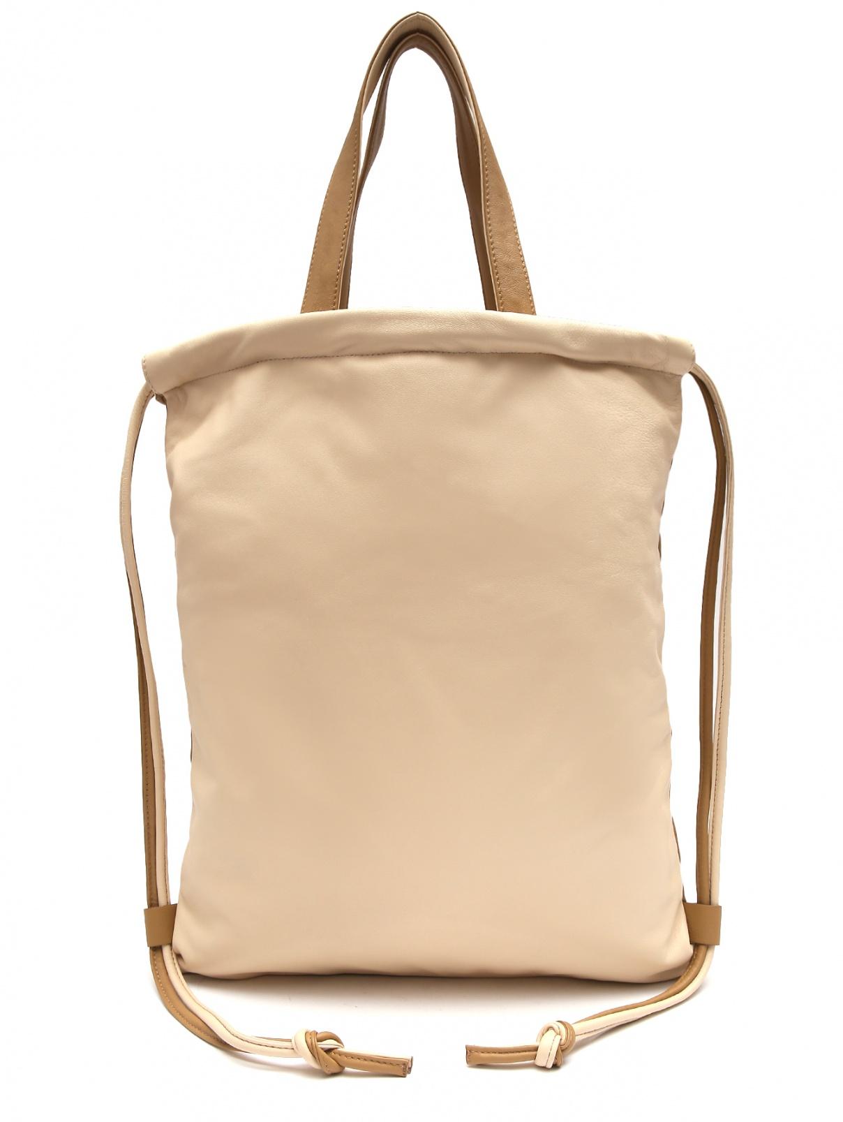 Сумка-рюкзак из гладкой кожи Max&Co  –  Общий вид