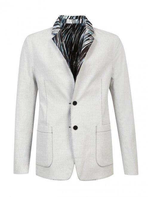 Пиджак двусторонний из хлопка с узором - Общий вид