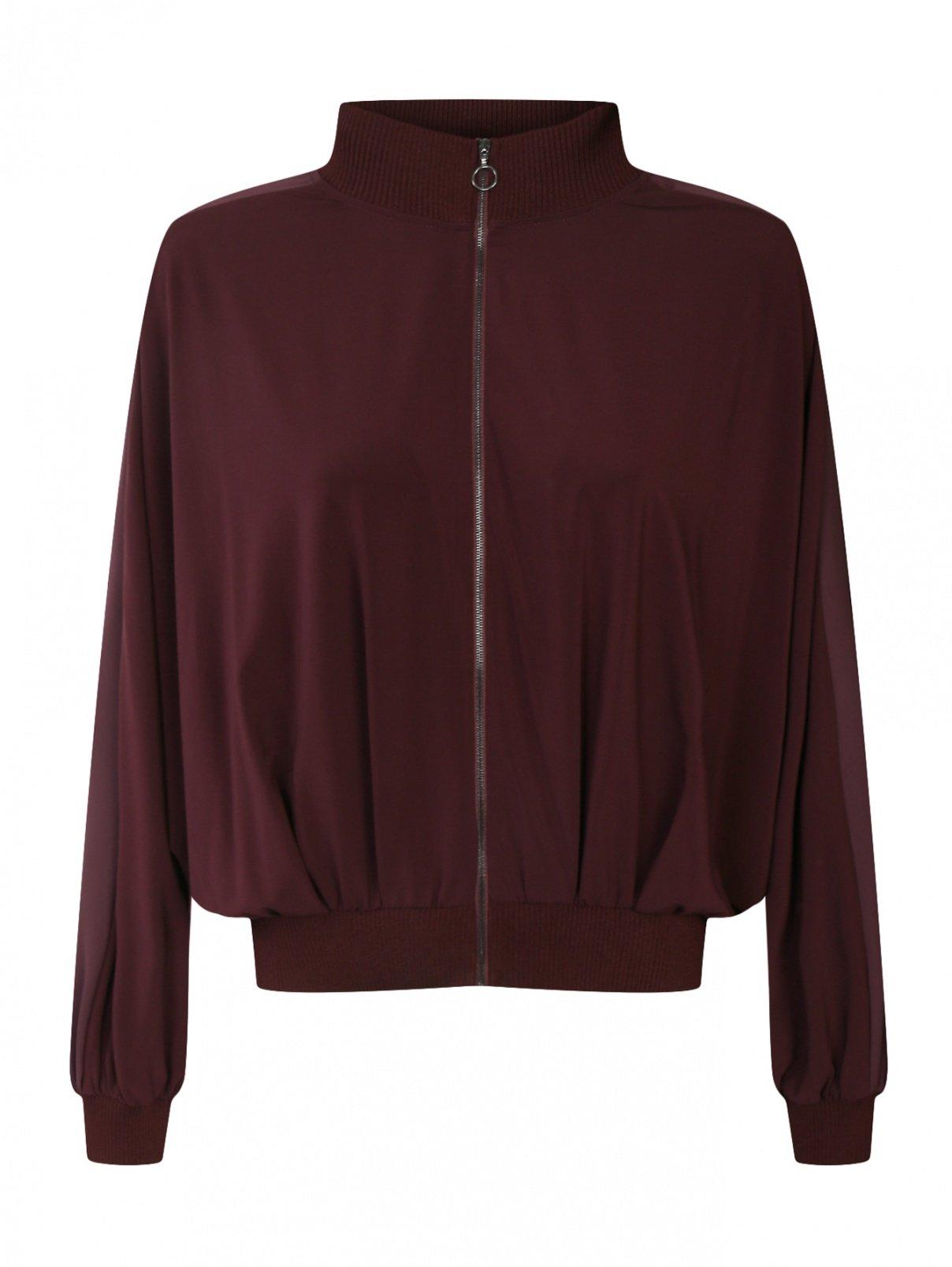 Укороченная блуза на молнии Max&Co  –  Общий вид