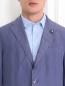 Пиджак однобортный из льна и шелка LARDINI  –  Модель Общий вид1
