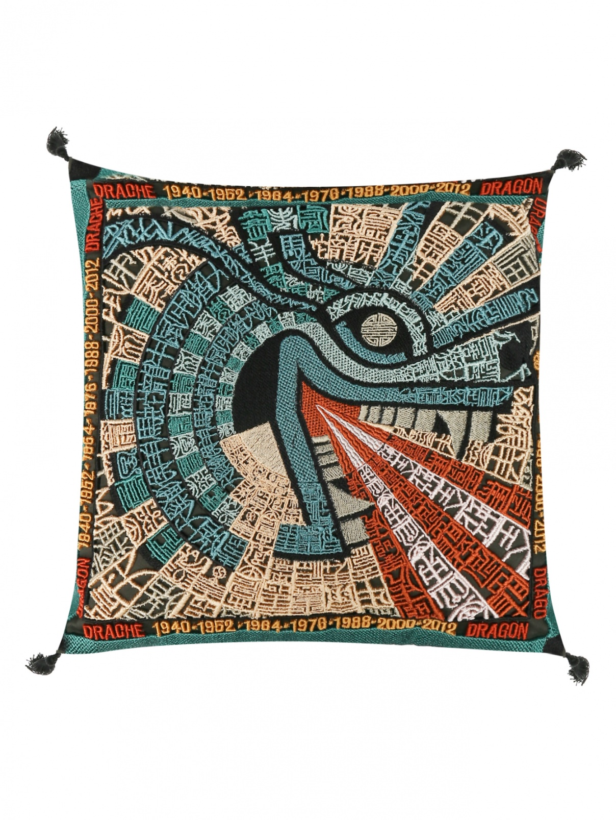 Подушка декоративная с вышивкой Missoni  –  Общий вид