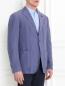 Пиджак однобортный из льна и шелка LARDINI  –  Модель Верх-Низ